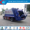 90HP 6-10cbm Rear Hydraulic Compressed Garbage Truck