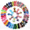 Nouvelle conception de broches de sécurité Canvas Pointed Kids Bowtie Printed Patterns