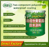 Matériau imperméable à l'eau de polyuréthane de composant de la protection de l'environnement deux/enduit de imperméabilisation