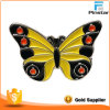 Выполненный на заказ красивейший желтый значок бабочки металла эмали