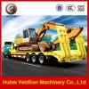 BPW 3 Axle Truck Trailer para Loading Excavator