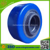 Blaue PU auf Roheisen-Rad für Fußrolle