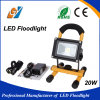 Luz de inundación portable y recargable de 20W LED IP65 impermeable
