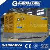 침묵하는 유형 600kw/750kVA Cummins 디젤 엔진 발전기 세트 (GPC750S)