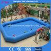 Syndicat de prix ferme gonflable géant bleu pour des enfants jouant des jeux de l'eau