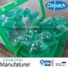4X 농도 세탁제 주머니, OEM&ODM 15g 액체 세탁물 깍지 세탁제 캡슐