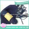 Écharpe acrylique longtemps de tricotage de grand dos de coton de mode de laines