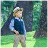 Gestrickte V-Stutzen Wolle-Kinder, die Jungen-Strickjacke-Weste kleiden