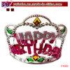 Postes en plastique d'usager de diadème de tête de montagne de joyeux anniversaire (P4060)