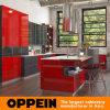 Cabinas de cocina de madera brillantes rojas industriales modernas de Medio Oriente altas (OP16-L25)