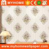 De goedkope Bloem Witte Wallcovering van het Damast met het Poeder van het Behang