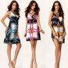 Оптовое платье печати женщин 100%Polyester Paisley (A862)