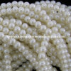 5X6m m White Glass Pearl Rondelle Beads Strand (KT-GPB01)