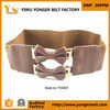 L'Evening Dress Wedding Canvas Belt avec Double Bow