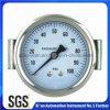 De achter Manometer van het Roestvrij staal van de Aansluting met Klem