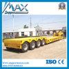 Radachse 4 80 Tonnen-niedrig Flachbett-halb Förderwagen-Schlussteil
