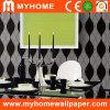 Diseño no tejido del negro del papel de empapelar de los materiales de la decoración