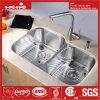 33-1/2 acier inoxydable  X.21  sous le bassin de cuisine de cuvette de double de support avec la conformité de Cupc