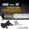 72W LED 일 표시등 막대 (12.5inch, 5500lm, 방수 IP68)