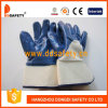 Gants enduits de nitriles bleus de Ddsafety avec la manchette de sûreté (DCN309)