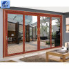 Porte coulissante en aluminium résistante de luxe vitrée par double