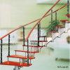Acero inoxidable Escalera Pasos de madera personalizadas curvados
