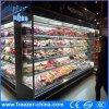 スーパーマーケットの酪農場の表示開いた前部クーラー