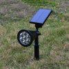 lumière imperméable à l'eau extérieure d'horizontal de lampe de pelouse de chemin de yard de jardin de projecteur d'énergie solaire de projecteur solaire de la lumière DEL de voie de 7LED RVB