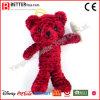 Brinquedo macio vermelho do urso do animal enchido do urso da peluche do luxuoso do presente da promoção