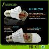 A ampola 27 B22 110-240V 3W-15W do diodo emissor de luz aquece o bulbo branco frio do diodo emissor de luz do plástico