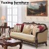 Strato americano del tessuto del sofà antico del salone con la Tabella classica
