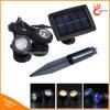 Projecteur solaire actionné solaire de la lampe IP68 DEL pour la lumière sous-marine extérieure d'étang de syndicat de prix ferme de pelouse de jardin d'horizontal