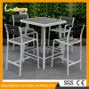 Conjunto de madera plástico al aire libre del vector de la barra de la silla del café del jardín de los muebles del nuevo diseño
