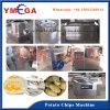 Terminar a linha de produção para fazer microplaquetas de batata fritadas