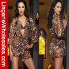 Женское бельё Sleepwear веревочки леопарда перспективы 3 цветов сексуальное