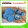 レストランのための陶磁器材料でセットされる現代青いディナー・ウェアを完了しなさい