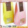 Специальн-Форменный бумажные мешки с стикером логоса/бумажным мешком с флористической заплаткой