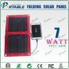 Caricatore solare esterno di migliore qualità di 100%, caricatore portatile solare pieghevole flessibile 6W 7W per il telefono mobile, Smartphone (PETC-S07B)