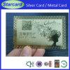 Cartões do VIP do negócio do metal do símbolo de status