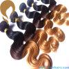 Trama do cabelo humano de Remy do Virgin da onda do corpo da cor de Ombre