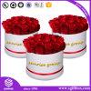 Caixa de empacotamento feita sob encomenda luxuosa da flor do presente de Rosa do papel de impressão do logotipo