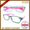 R1375 de Glanzende Glazen van de Lezing van de Frames van de Kleur Plastic Slanke Unisex-