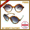 Gestaltet neuer kundenspezifischer runder Plastik F6995 Sunglass heiße Produkte für