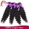 100% 인도 사람의 모발 사원 자연적인 깊은 파 Virgin 머리