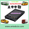 Kit del CCTV del taxi con 2/4 de las cámaras 1080P DVR móvil GPS 3G de seguimiento 4G