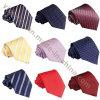 Relations étroites en soie de collet de Mens de polyester formel de sergé de mode