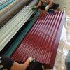 T печатает лист на машинке покрынный цветом гофрированный стальной