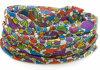 Fascia giallo cuoio della sciarpa del tubo di Microfiber di stampa floreale promozionale multi