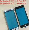 フレームが付いている黒く白いガラスレンズスクリーンカバーはiPhoneのために取り替える6 5.5を
