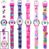 Quartz impermeável Silicone Twist Watches para Kids & Adults